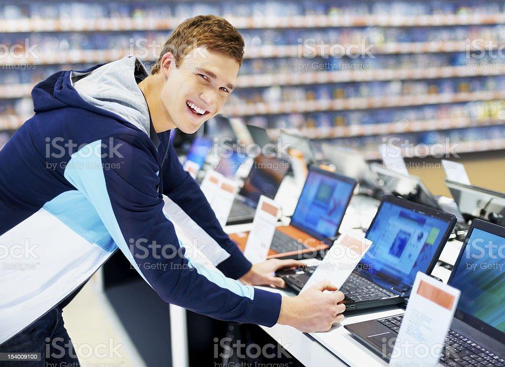 Happy student shopper royalty-free stock photo