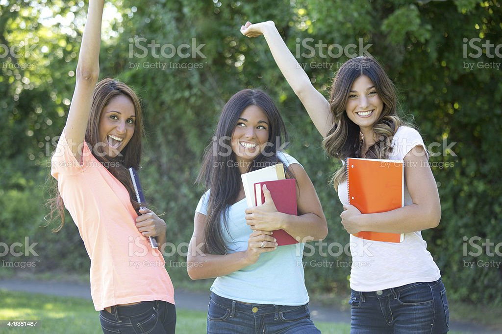 happy students royalty-free stock photo