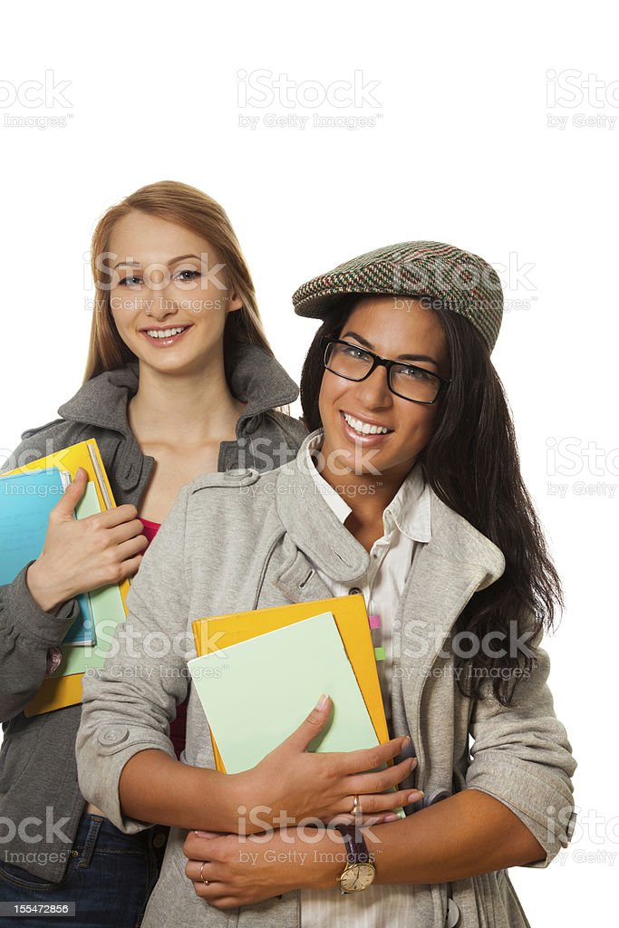 happy students with books royalty-free stock photo