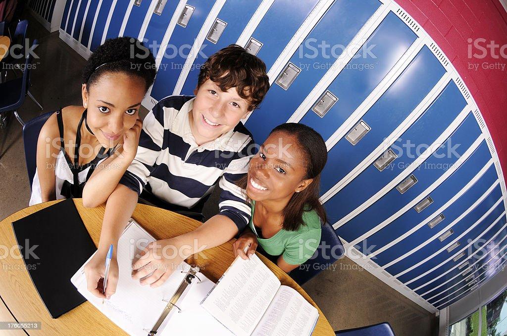 Happy Study Group stock photo