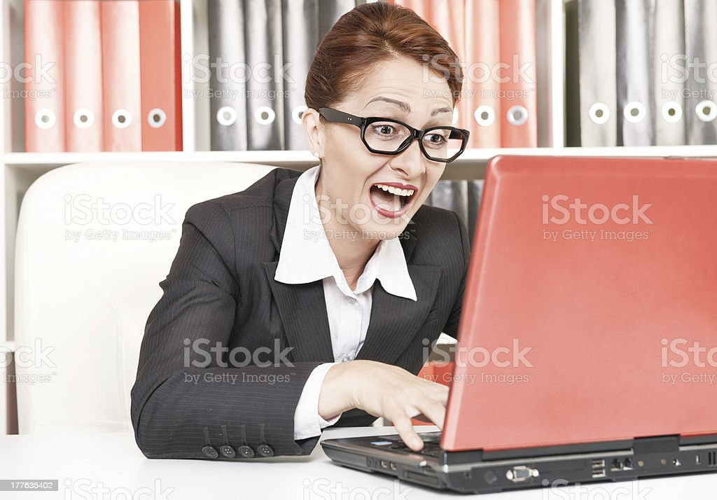 Happy success business woman royalty-free stock photo
