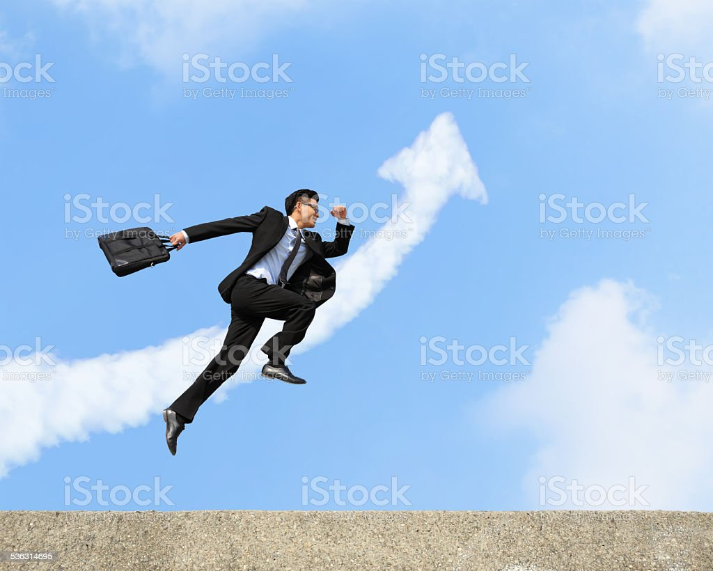 happy successful business man stock photo