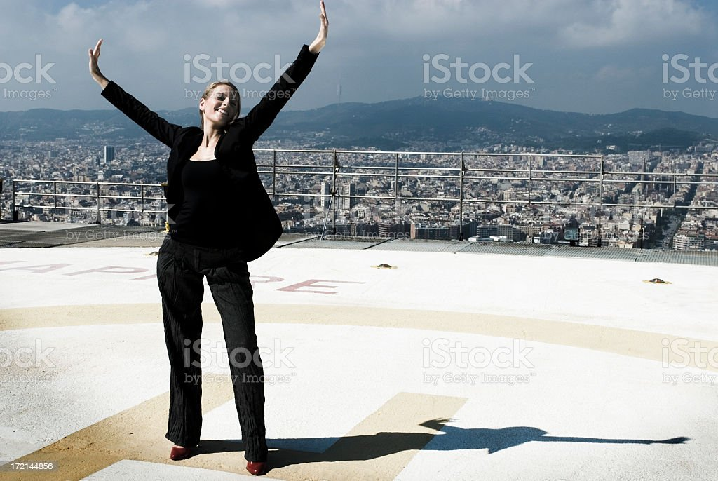 Happy Successful Businesswoman royalty-free stock photo