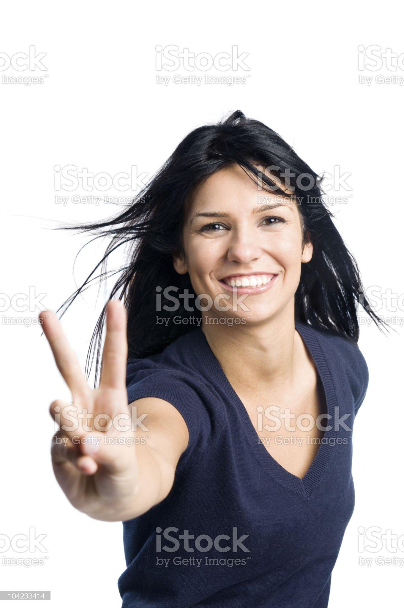 Happy successful latin girl royalty-free stock photo