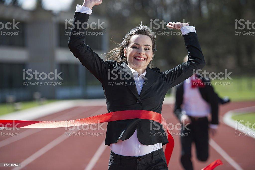 Happy Successful women stock photo