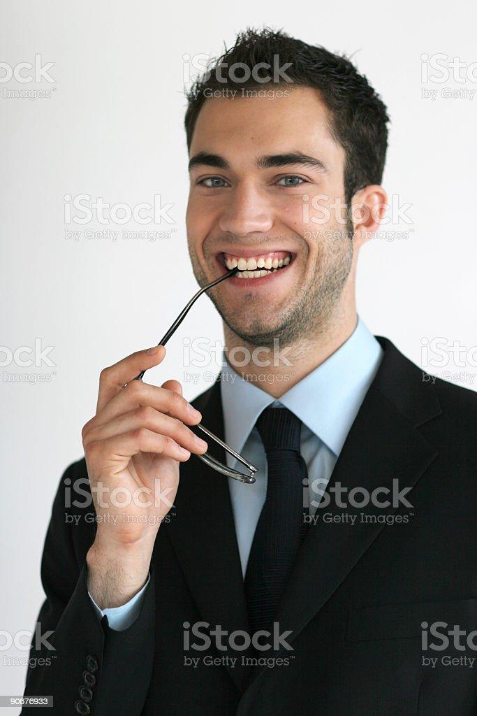 Happy Suit Guy royalty-free stock photo
