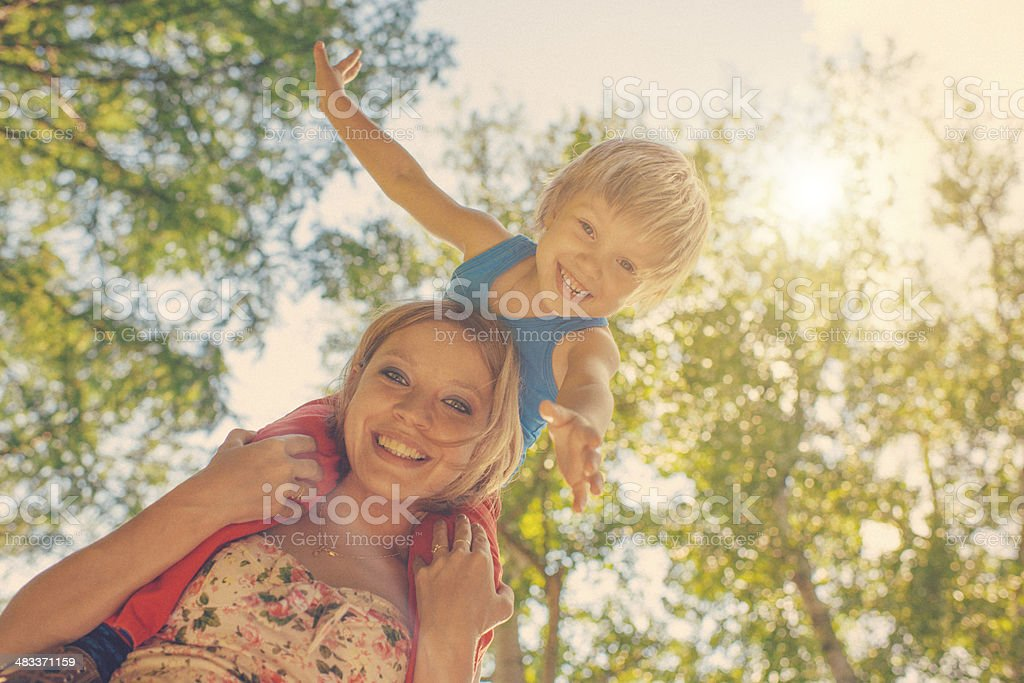 Happy summer stock photo