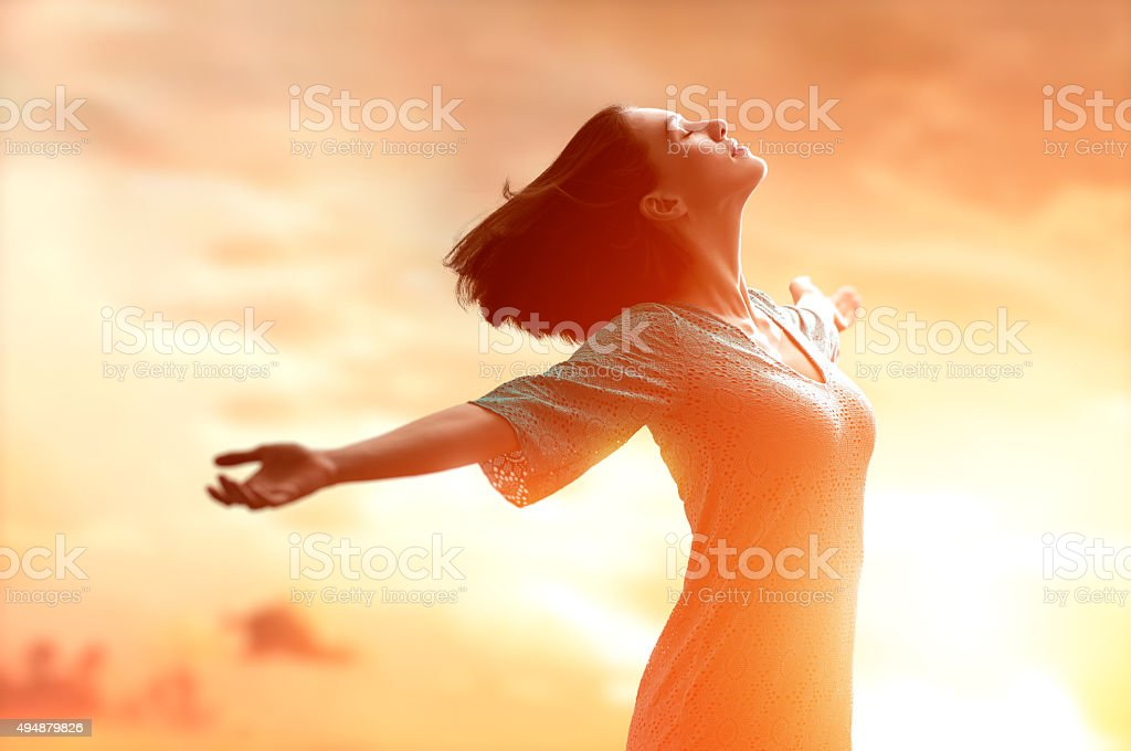 happy summer stock photo