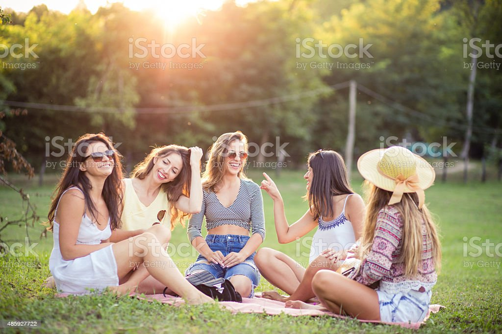 Happy sunny days stock photo