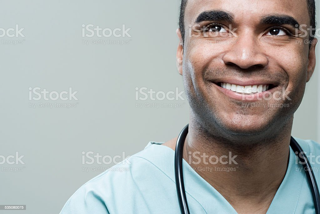 Happy surgeon stock photo