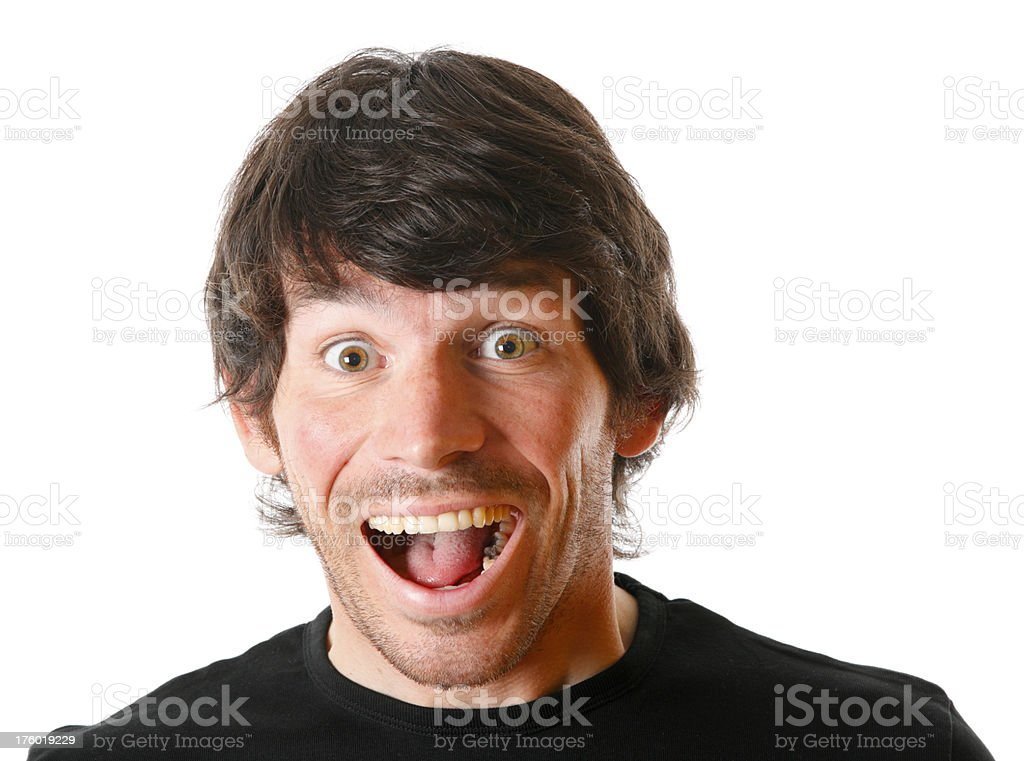 Happy surprised man royalty-free stock photo