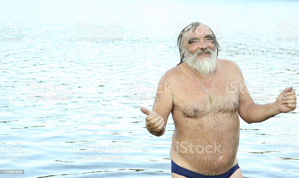 happy swimmer stock photo