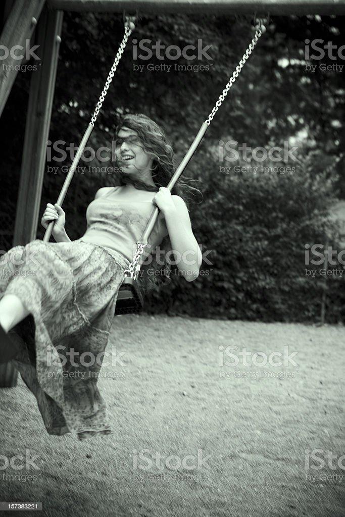 Happy swinging.... royalty-free stock photo