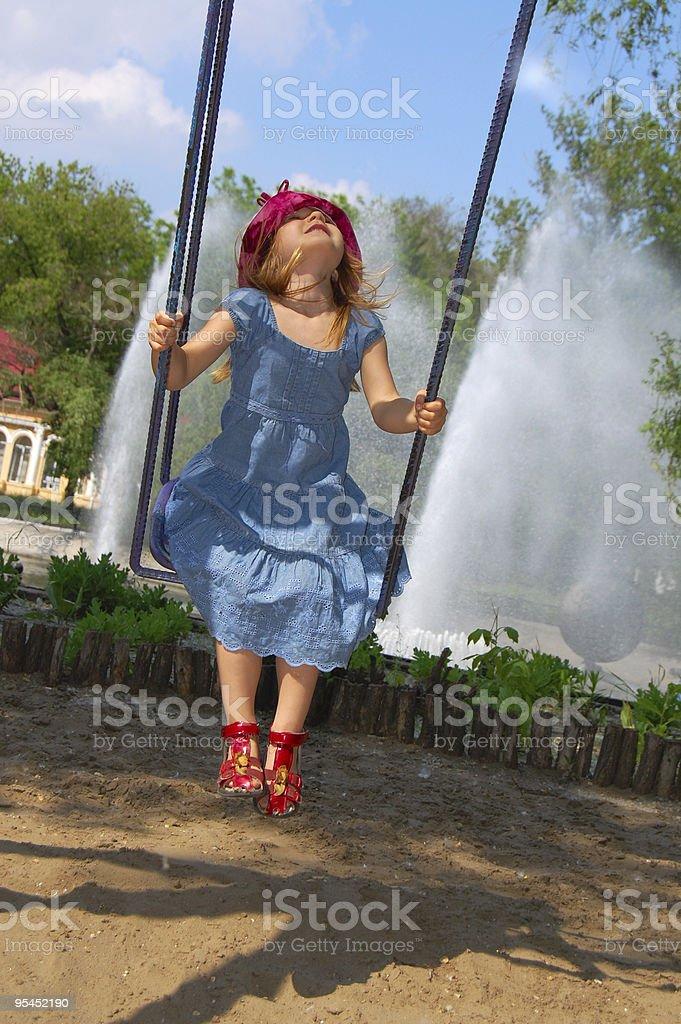 happy swinging royalty-free stock photo