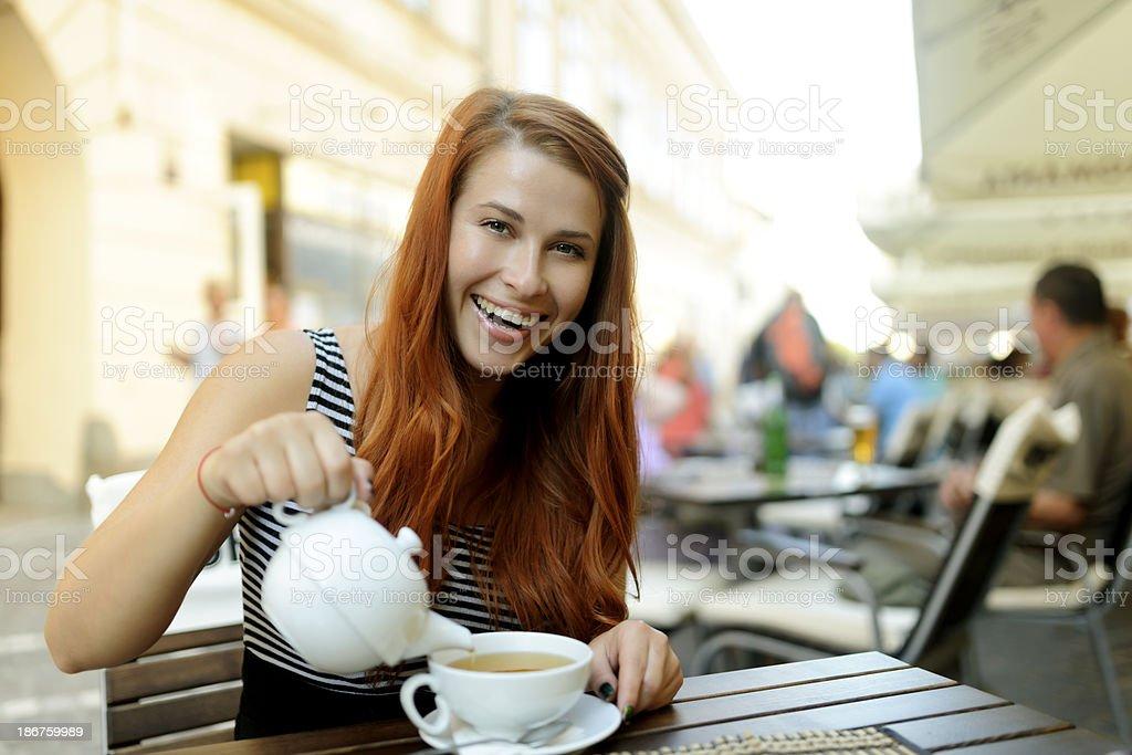 happy tea time royalty-free stock photo