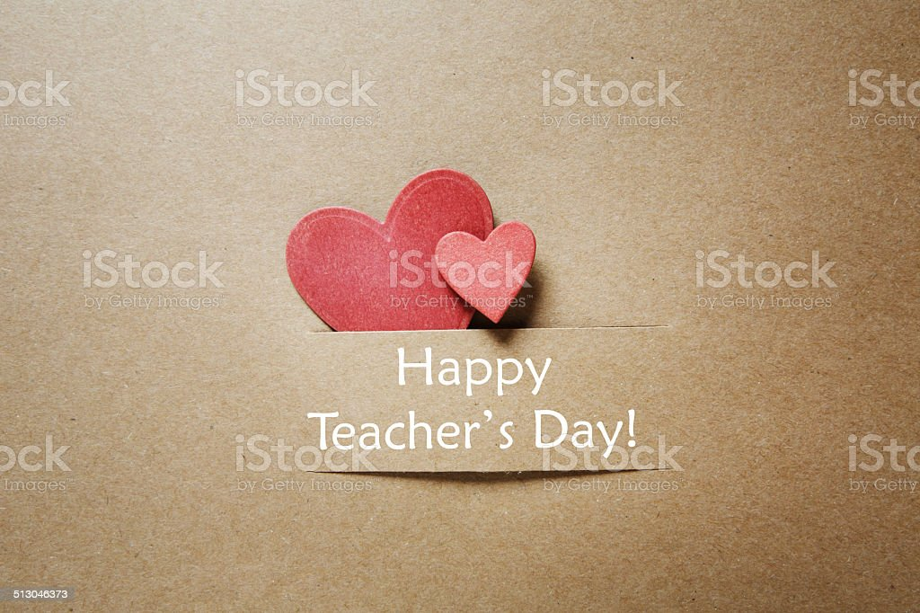 Happy Teacher's Day! stock photo