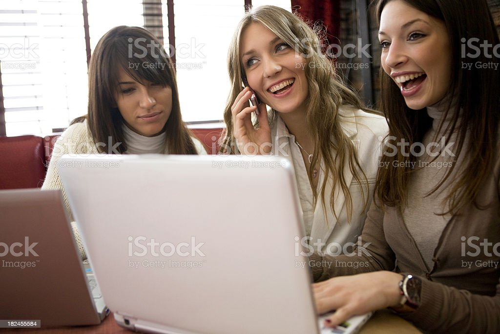 Happy teamwork royalty-free stock photo
