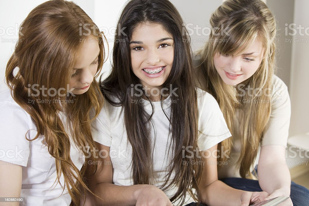 Happy Teen Friends stock photo