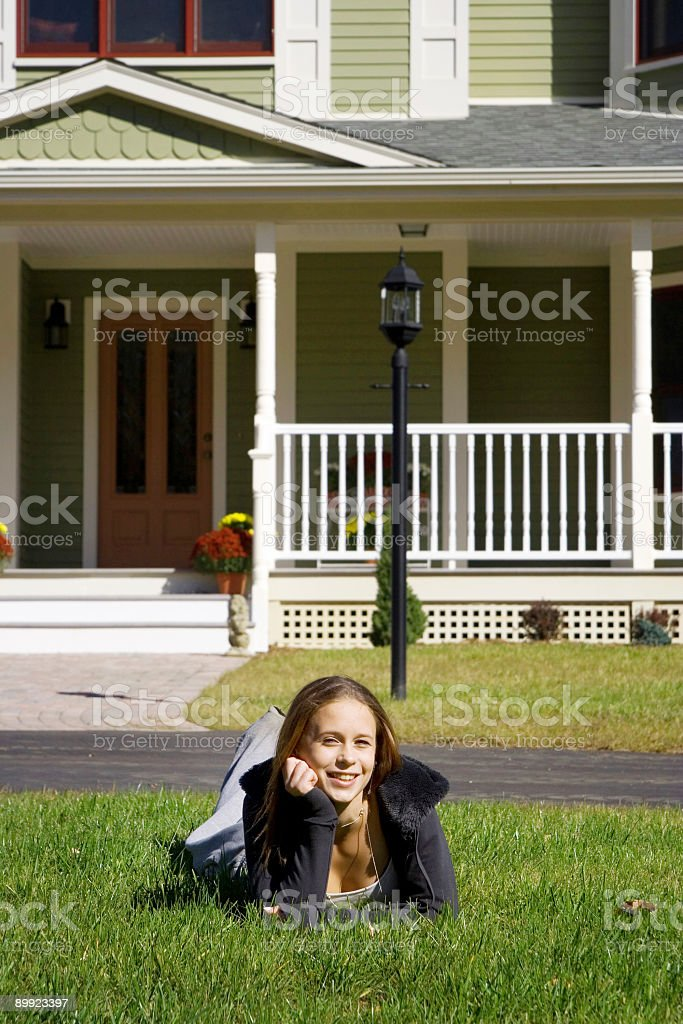 Happy teen girl royalty-free stock photo