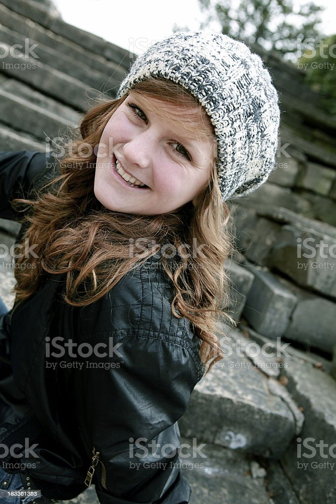 Happy Teen Portrait royalty-free stock photo