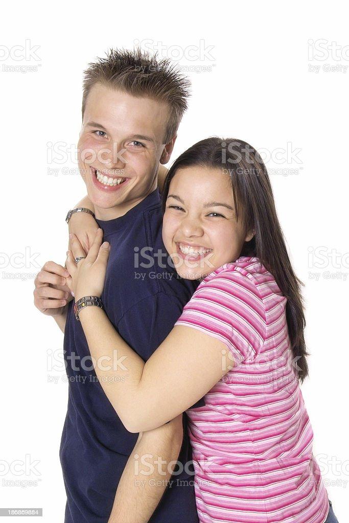 Happy Teenage Couple royalty-free stock photo