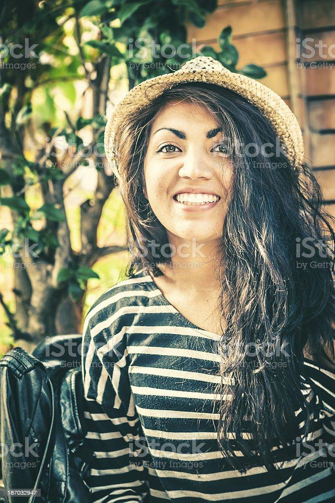 Happy Teenage Girl with Hispanic Roots royalty-free stock photo