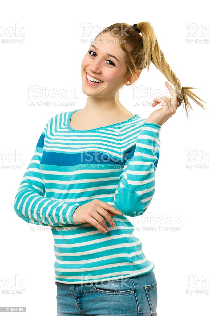 Happy teenager girl royalty-free stock photo