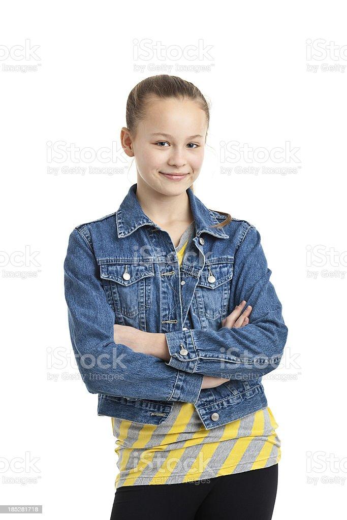 happy teenager girl royalty-free stock photo