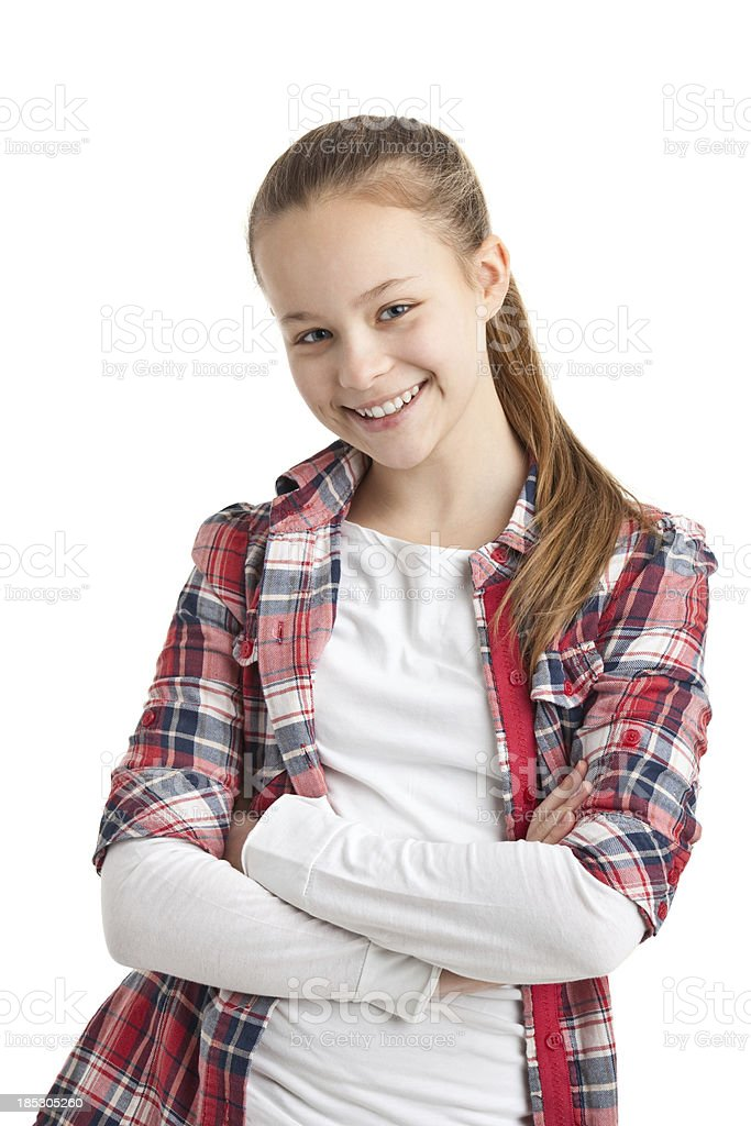 happy teenager girl stock photo