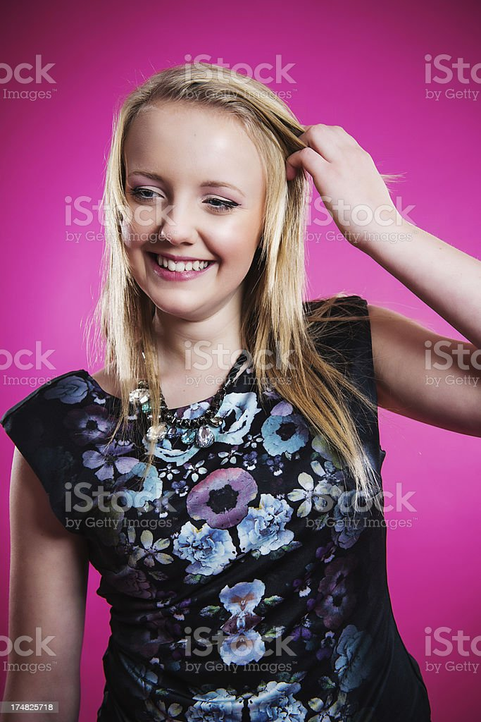 Happy teenager stock photo
