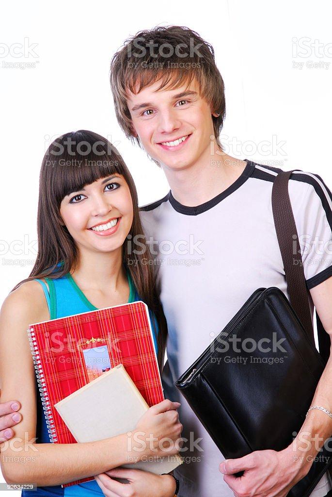 Happy teenagers friends stock photo