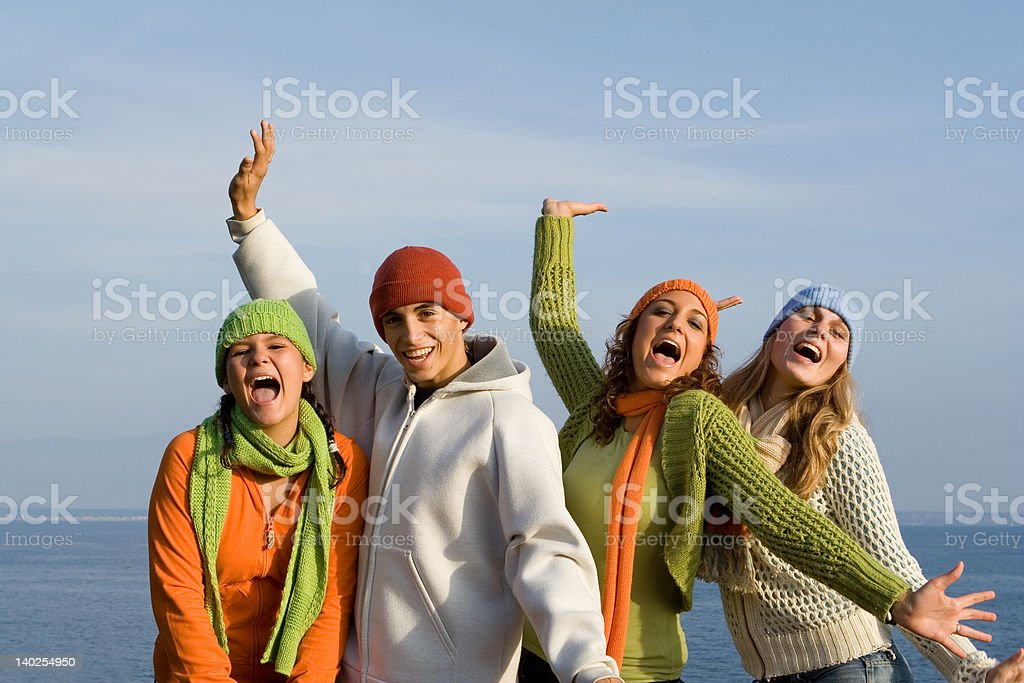 happy teens royalty-free stock photo