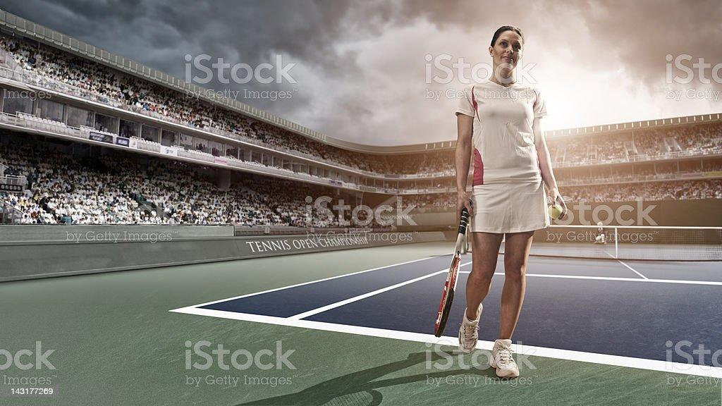 Happy Tennis Player stock photo