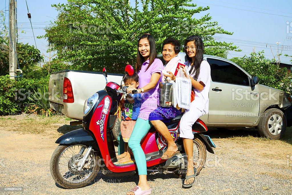 Happy Thai girls royalty-free stock photo