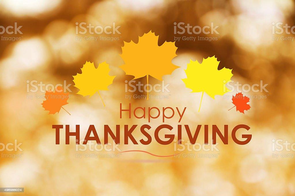Happy Thanksgiving Greeting stock photo