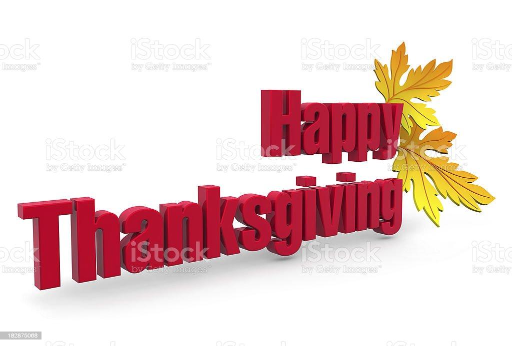 Happy Thanksgiving royalty-free stock photo