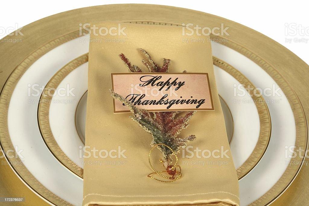 Happy Thanksgiving Setting royalty-free stock photo