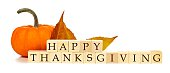 Happy Thanksgiving wooden blocks autumn decor over white