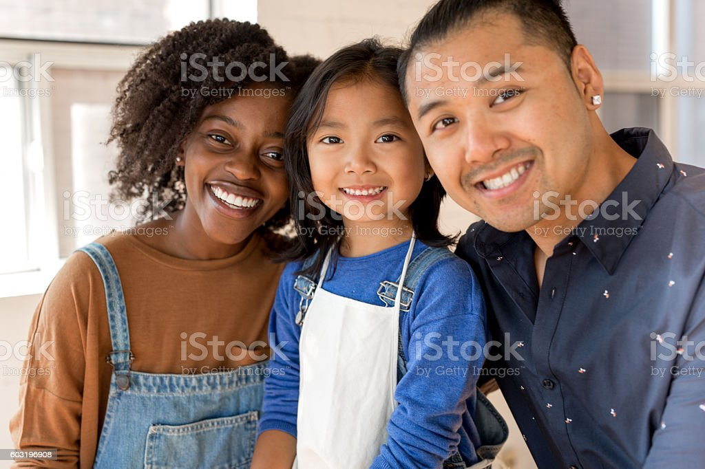 Happy time with family stock photo