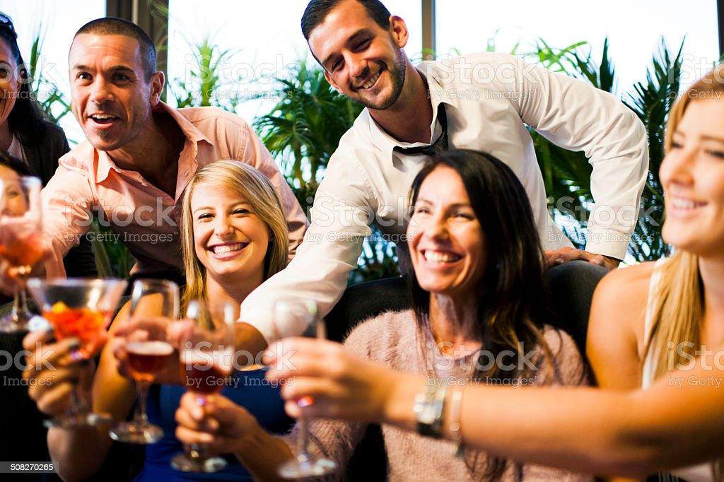 Happy Times With Friends stock photo