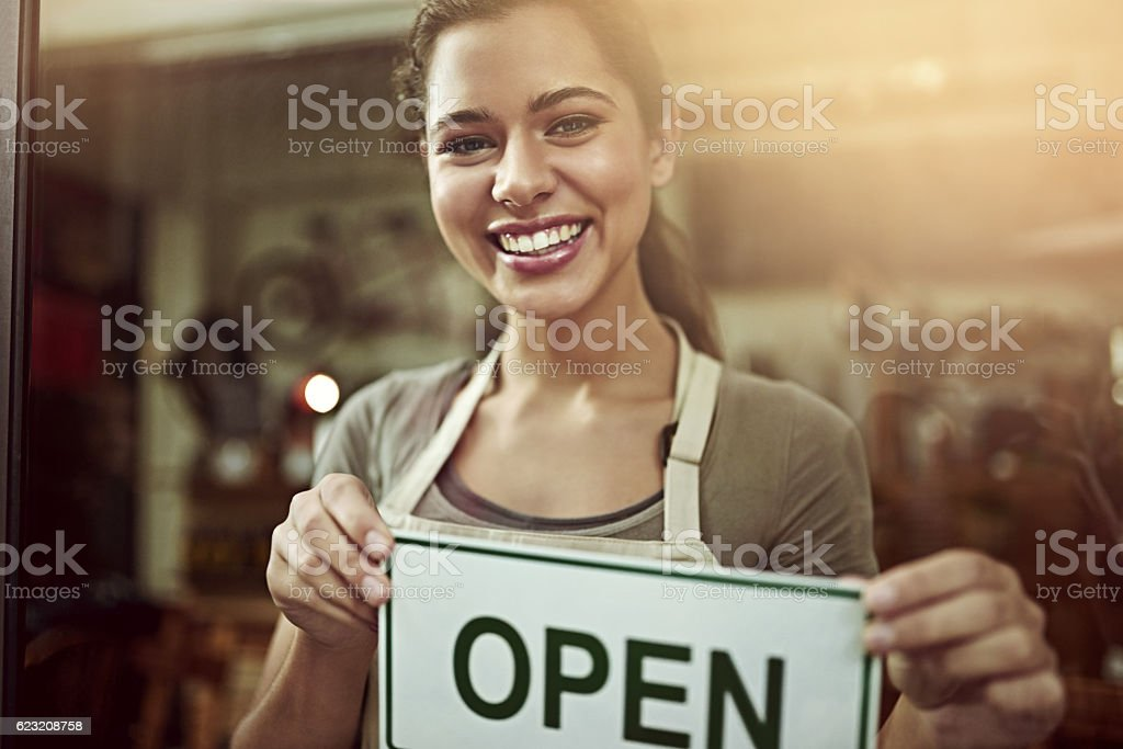 Happy to announce the opening of my store stock photo
