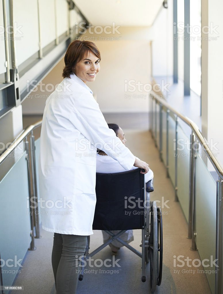 Happy to assist those in need royalty-free stock photo