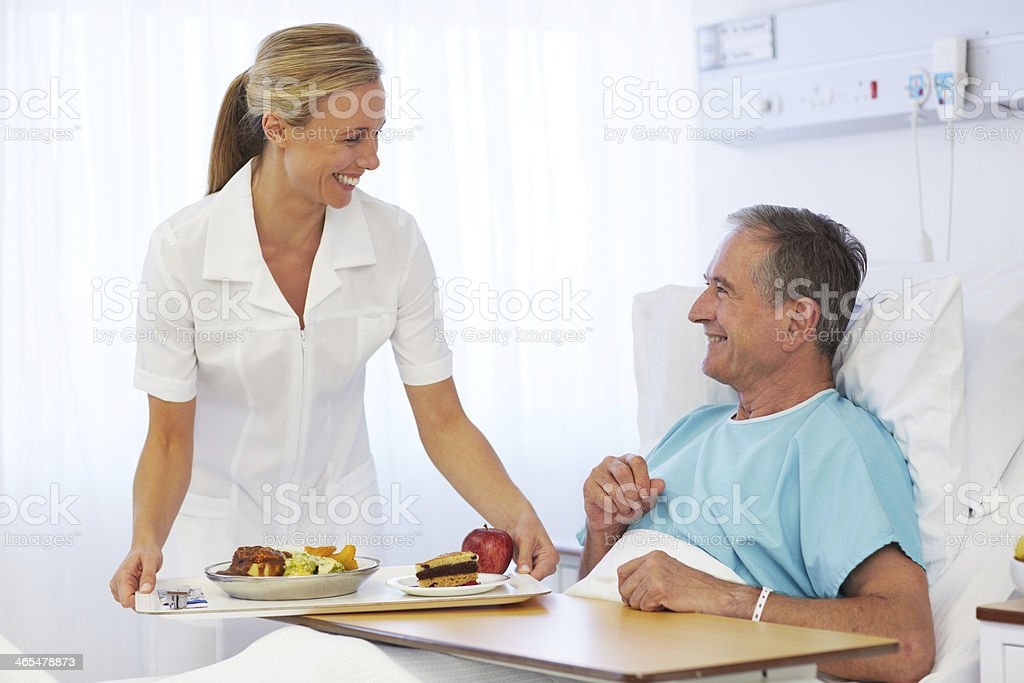Happy to be eating again! stock photo