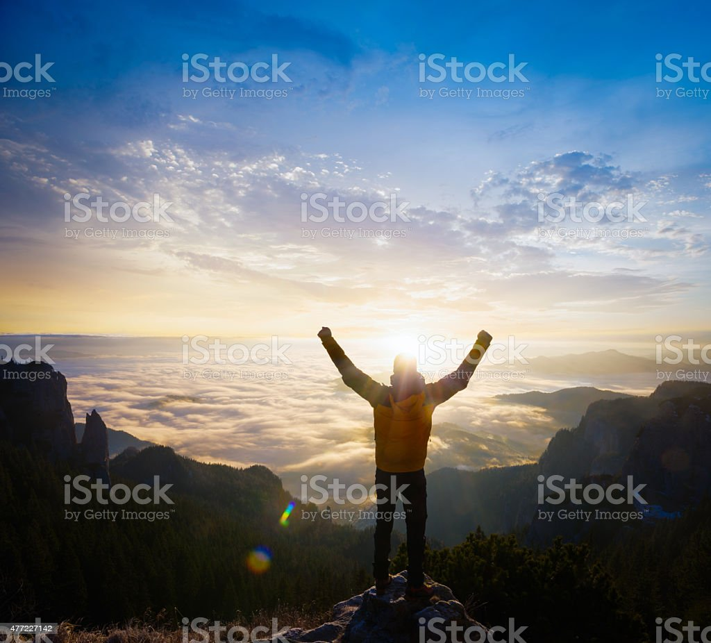 Happy to be free stock photo