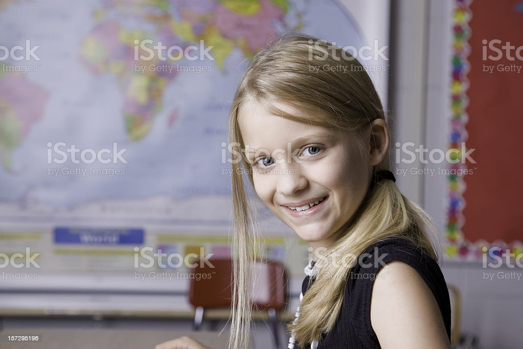 Happy to Be In the Classroom royalty-free stock photo
