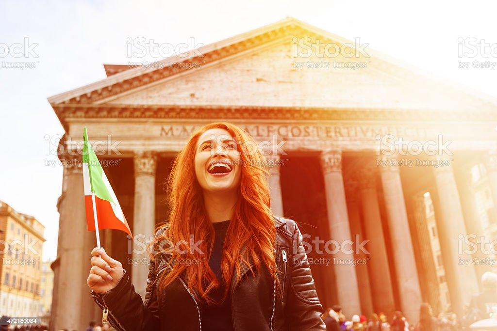 happy to be near Panteon stock photo