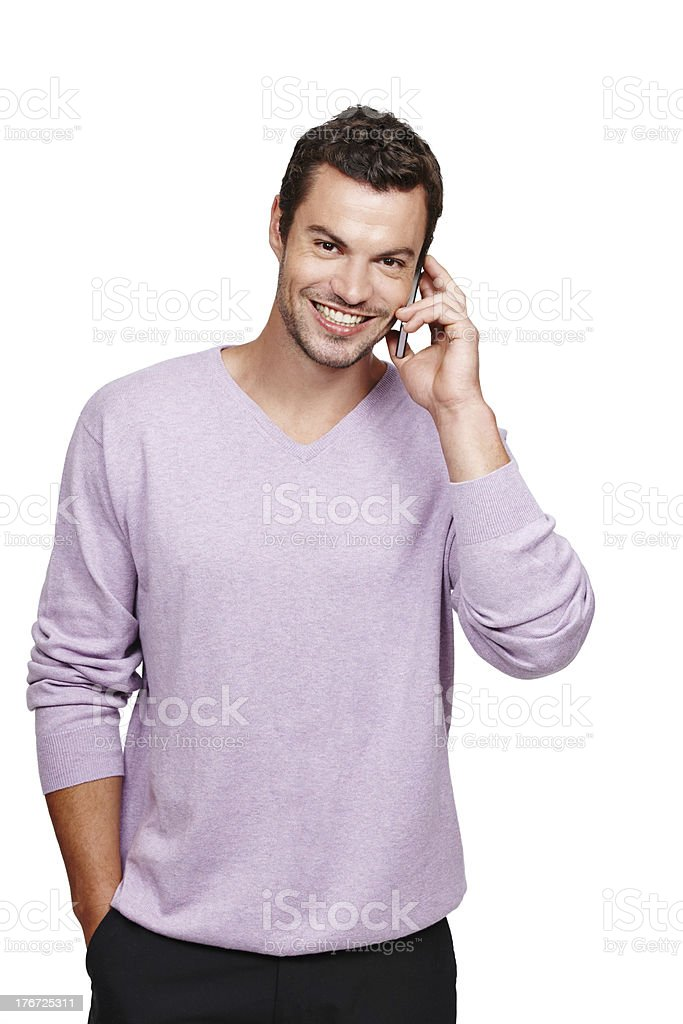 Happy to hear from you royalty-free stock photo