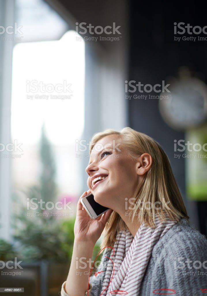 Happy to hear from you! stock photo