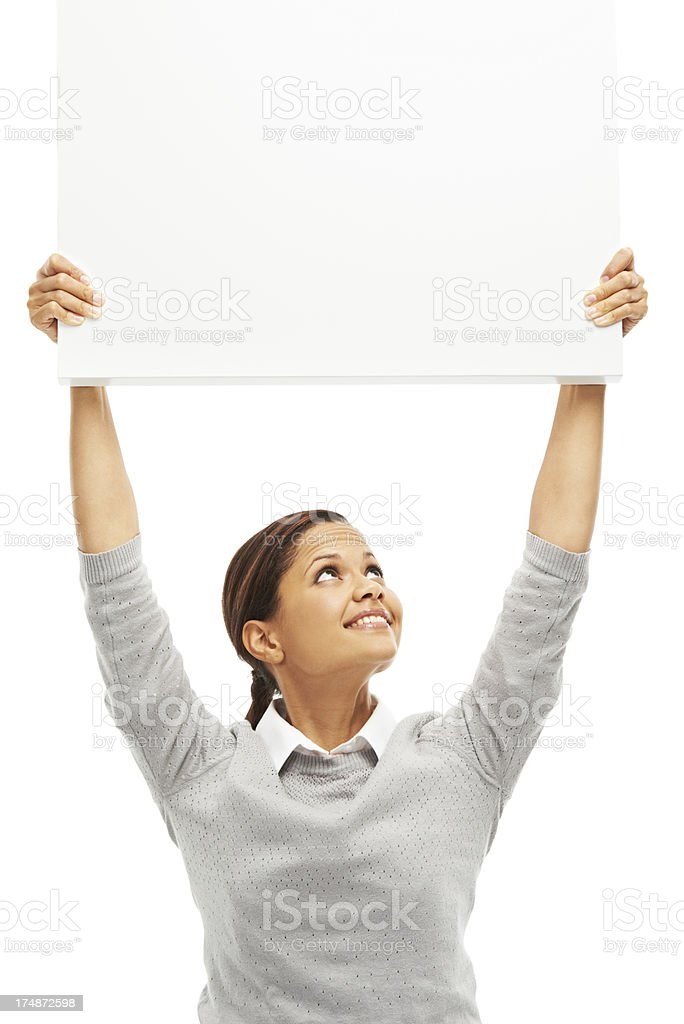 Happy to promote your message stock photo