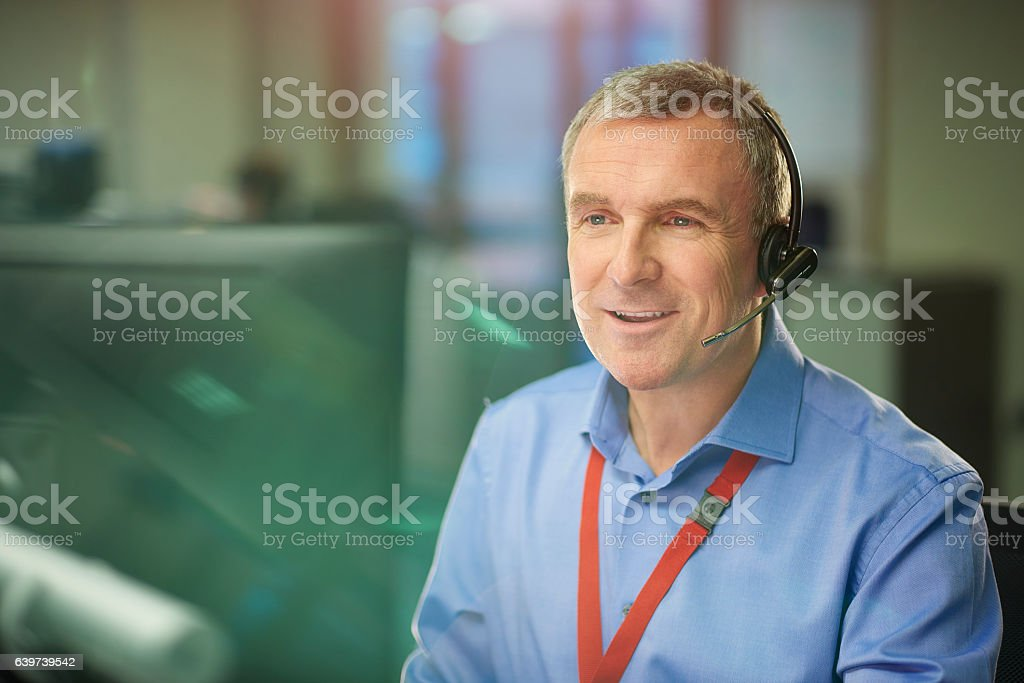 happy to take your call stock photo